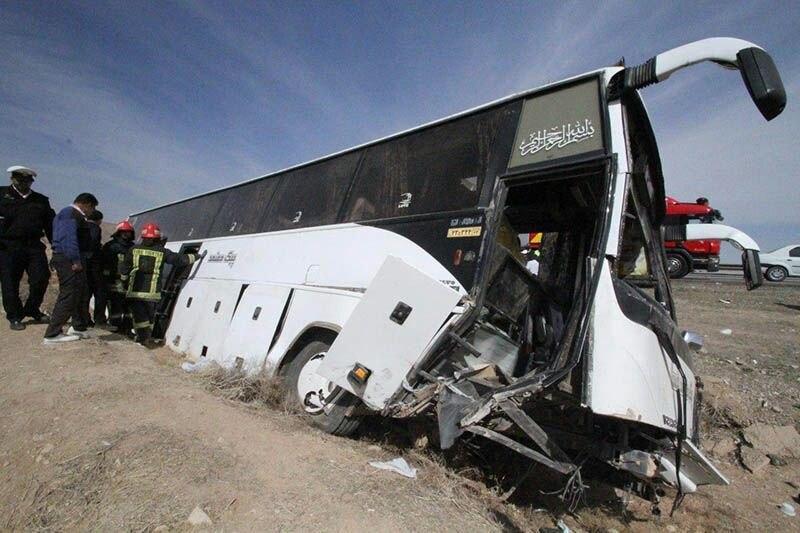 شش فوتی و ۱۲مصدوم در پی واژگونی اتوبوس