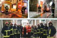 برگزاری مانور آتشنشانی در بازار بزرگ کاشان