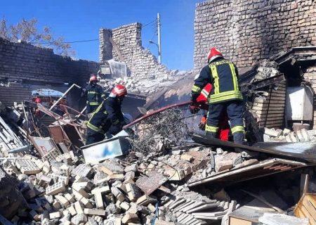 تخریب محل حادثه و یک مصدوم، حاصل انفجار کارگاه تولید کابینت