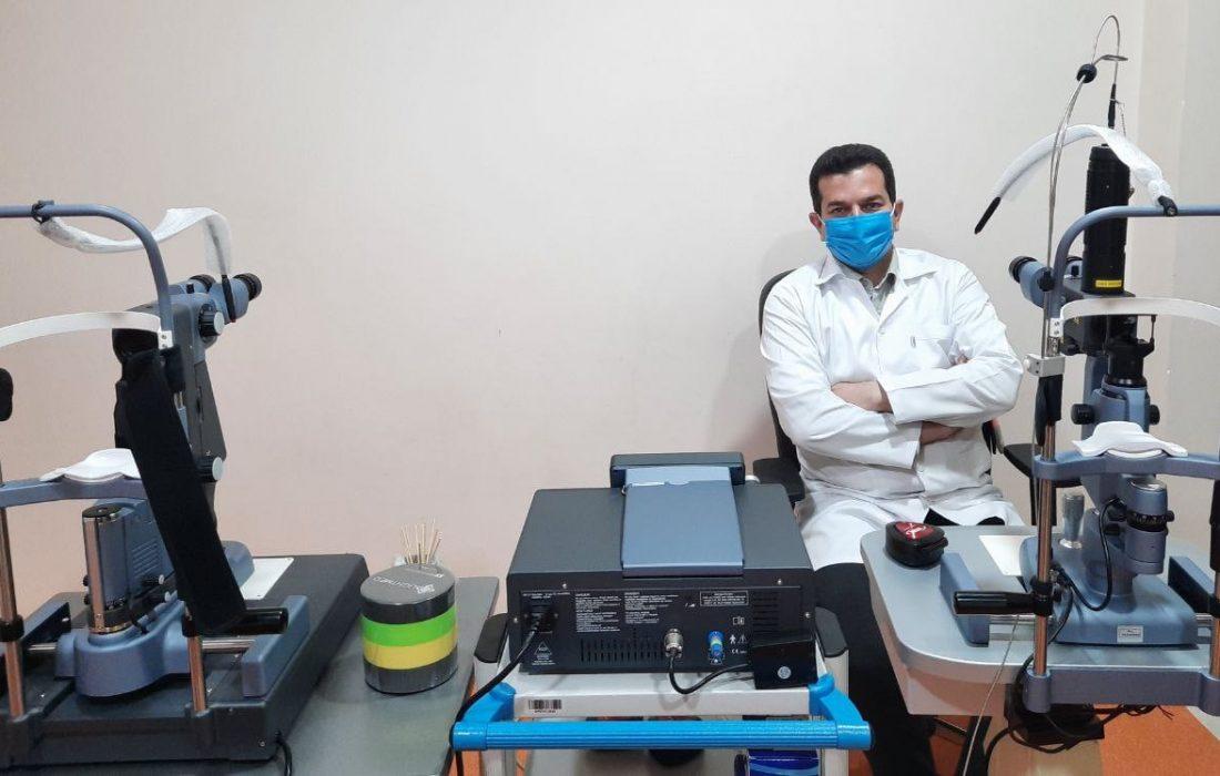 """تجهیز بیمارستان آیت الله یثربی به دستگاه لیزر آرگون شبکیه با فناوری""""ساب ترشولد""""(Sub threshold)"""